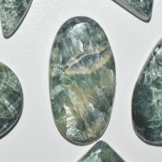 Seraphinite 30x16mm Oval Cabochon