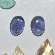 Iolite 7x5mm Oval Cabochon Pairs