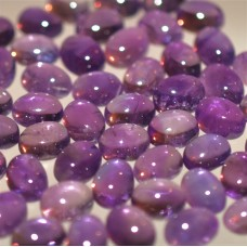 Amethyst 9x7mm Oval Loose Gemstone Cabochon Pair