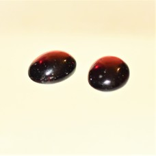 Garnet 9x7mm Oval Gemstone Cabochon Pair