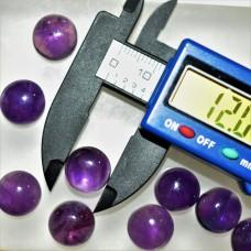 Amethyst 12mm Round Gemstone Cabochon