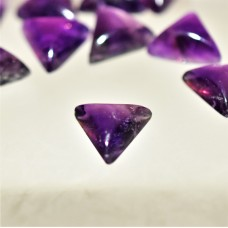 Amethyst 10mm Triangular Gemstone Cabochon