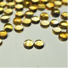 Citrine 5mm Round Cabochon Pair