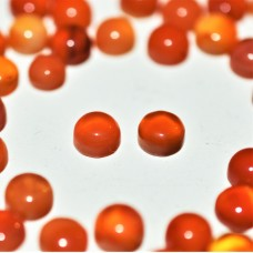 Carnelian 5mm Round Cabochon Pair