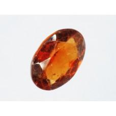 Garnet (Spessartine) 9x7mm Oval Faceted Gemstone