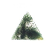 Moss Agate 22mm Triangular Gemstone Cabochon