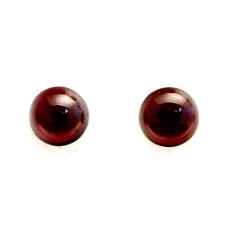 Garnet 10mm Round Gemstone Cabochon Pair