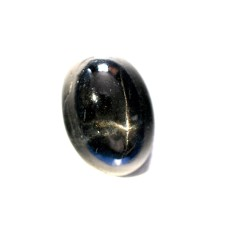 Black Star Diopside 14x10mm Oval Gemstone Cabochon