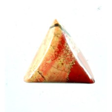 Red Jasper 12mm Triangular Gemstone Cabochon
