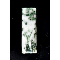 Tree Agate 30x10mm Rectangular Gemstone Cabochon