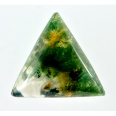 Moss Agate 12mm Triangular Gemstone Cabochon