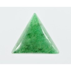 Green Aventurine 12mm Triangular Gemstone Cabochon