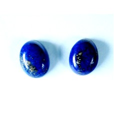 Lapis Lazuli 8x6mm Oval Cabochon Pair