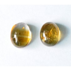 Citrine 9x7mm Oval Cabochon Pair