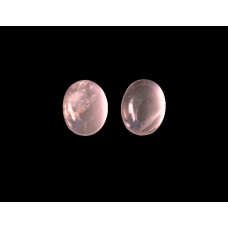 Rose Quartz 6x8mm Oval Gemstone Cabochon Pair
