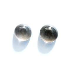 Smoky Quartz 8mm Round Gemstone Cabochon Pair
