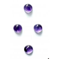 Amethyst 5mm Round Gemstone Cabochon x 4