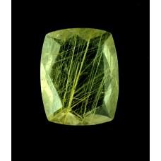 Rutilated Quartz 17x14mm Rectangular Faceted Gemstone
