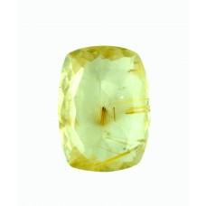 Rutilated Quartz 18x13mm Rectangular Faceted Gemstone