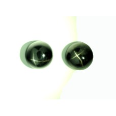 Diopside (Black Star) 8mm Round Gemstone Cabochon Pair