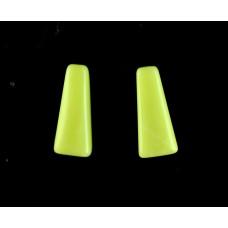 Green Jasper 10x4mm Trapezium Cut Gemstone Cabochon Pair