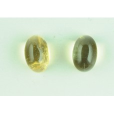 Citrine 6x4mm Oval Gemstone Cabochon Pair