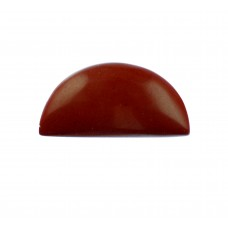 Red Jasper 25x12mm Semi Circular Gemstone Cabochon