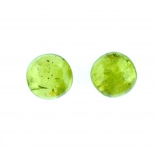 Peridot 5mm Round Gemstone Cabochon Pair