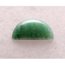 Green Aventurine 25x12mm Semi-Circular Gemstone Cabochon