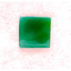 Green Onyx 14mm Square Gemstone Cabochon