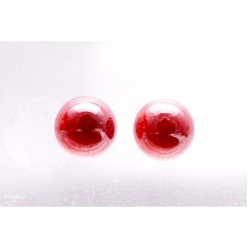 Garnet 7mm Round Gemstone Cabochon Pair
