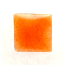 Red Aventurine 15mm Square Gemstone Cabochon
