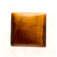 Tigers Eye 15mm Square Gemstone Cabochon