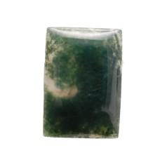 Moss Agate 20x14mm Rectangular Gemstone Cabochon