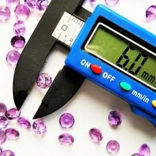 Amethyst 6mm Round Faceted Gemstone Pair