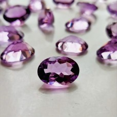 Amethyst 10x14mm Oval Faceted Gemstone