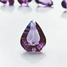 Amethyst 19x14mm Fantasy Drop Cut Gemstone