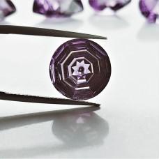 Amethyst 13mm Round Fantasy Cut Gemstone