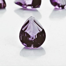 Amethyst 15x11mm Fantasy Drop Cut Gemstone