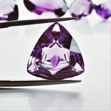 Amethyst 17.5x17mm Trillion Cut Gemstone