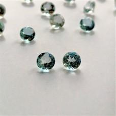 Aquamarine 4mm Round Faceted Gemstone Pair