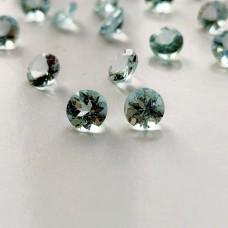 Aquamarine 5mm Round Faceted Gemstone Pair