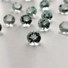 Aquamarine 6mm Round Faceted Gemstone