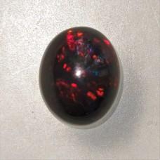 Black Opal 9.7x8mm Oval Cabochon