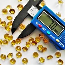 Citrine 7mm Round Faceted Gemstone
