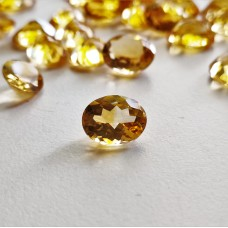 Citrine 10x8mm Oval Faceted Gemstone