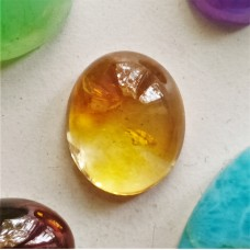 Citrine 15x13mm Oval Cabochon
