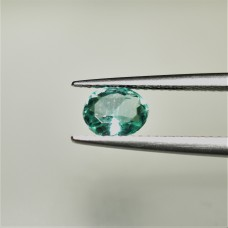 Emerald 6.5x5.2mm Oval Faceted Gemstone