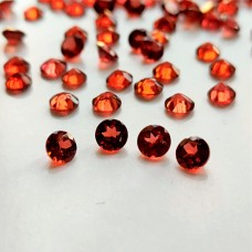 Garnet 4mm Round Faceted Gemstone x 4
