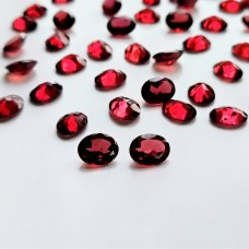 Garnet 9x7mm Oval Faceted Pair